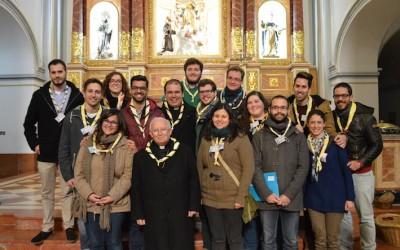 Don Antonio Cañizares y la Comisión Diocesana formada por los Delegados territoriales del Movimiento